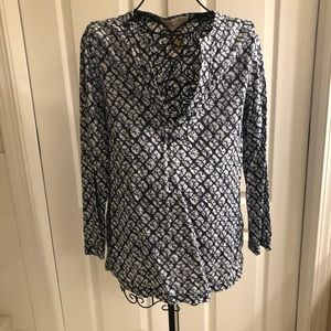 Michael Kors Tunic V-Neck Top - M